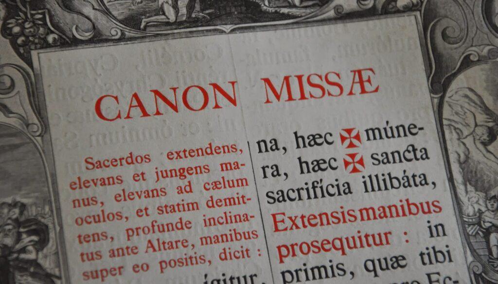 Bild des Canon Missae (Hochgebet)