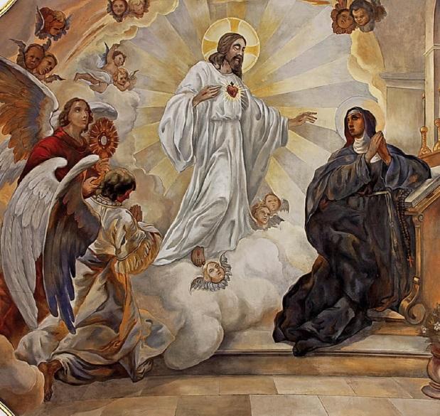 Darstellung der Verehrung des heiligsten Herzens Jesu